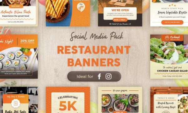 Restaurant Banners 959CAZ - PSD