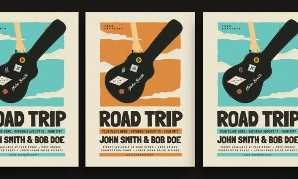 Road Trip Gigs Event Flyer C6W67N - AI, PSD