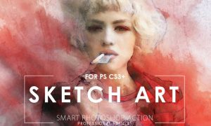 Sketch Art Potoshop Action 8XPYN9