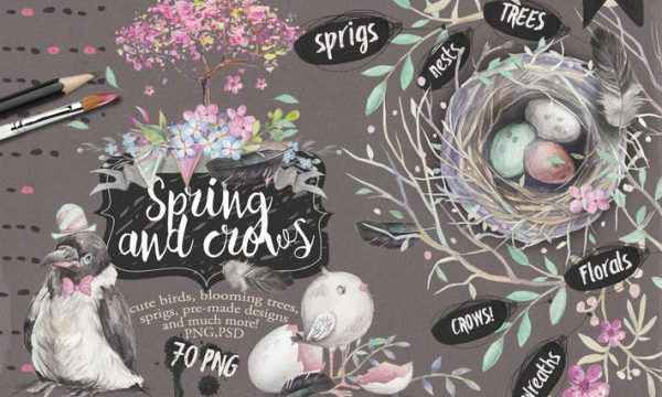 """Spring & crows"" bundle"