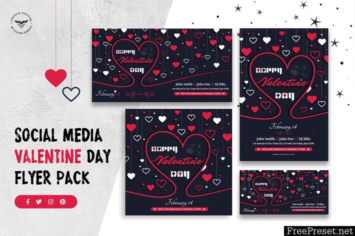 Valentines Day Social Media Template TU7L8K - PSD, PNG