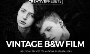Vintage Film Black & White Lightroom Presets