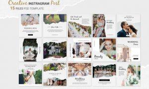 Wedding Instagram Post HY67E93 - PSD, JPG