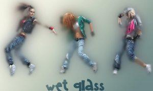 Wet Glass Photoshop Action GFGWG6