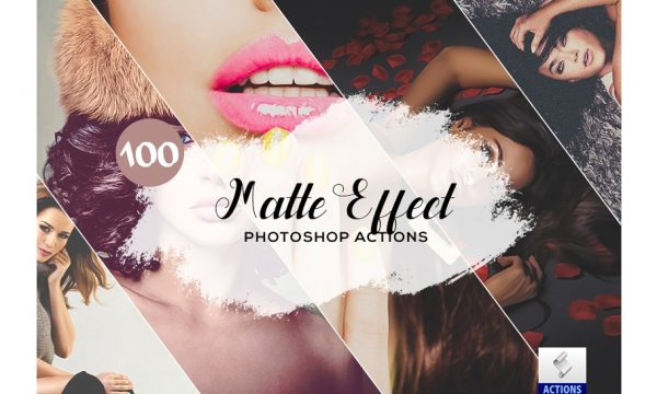100 Matte Effect Photoshop Actions 3934740