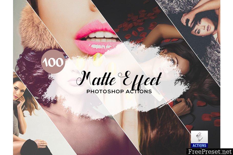 100 Matte Effect Photoshop Actions 3934740
