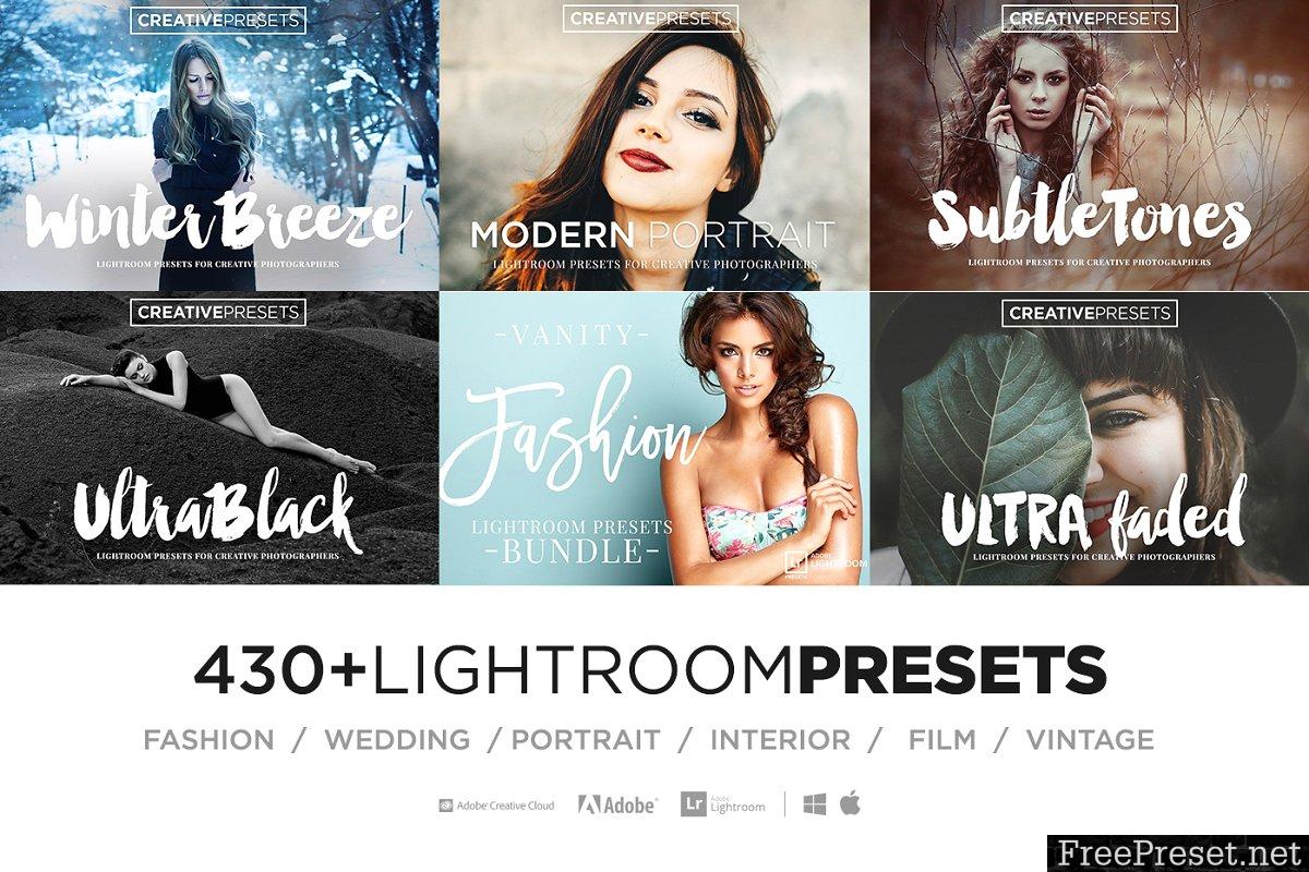 430+ LIGHTROOM PRESETS BUNDLE 2210409