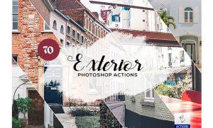 70 Exterior Photoshop Actions 3934451