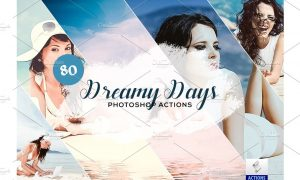80 Dreamy Days Photoshop Action 3934403
