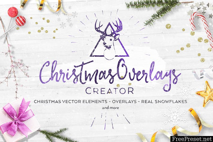 Christmas Overlays Creator WH4BVY - AI, EPS, PNG, PSD