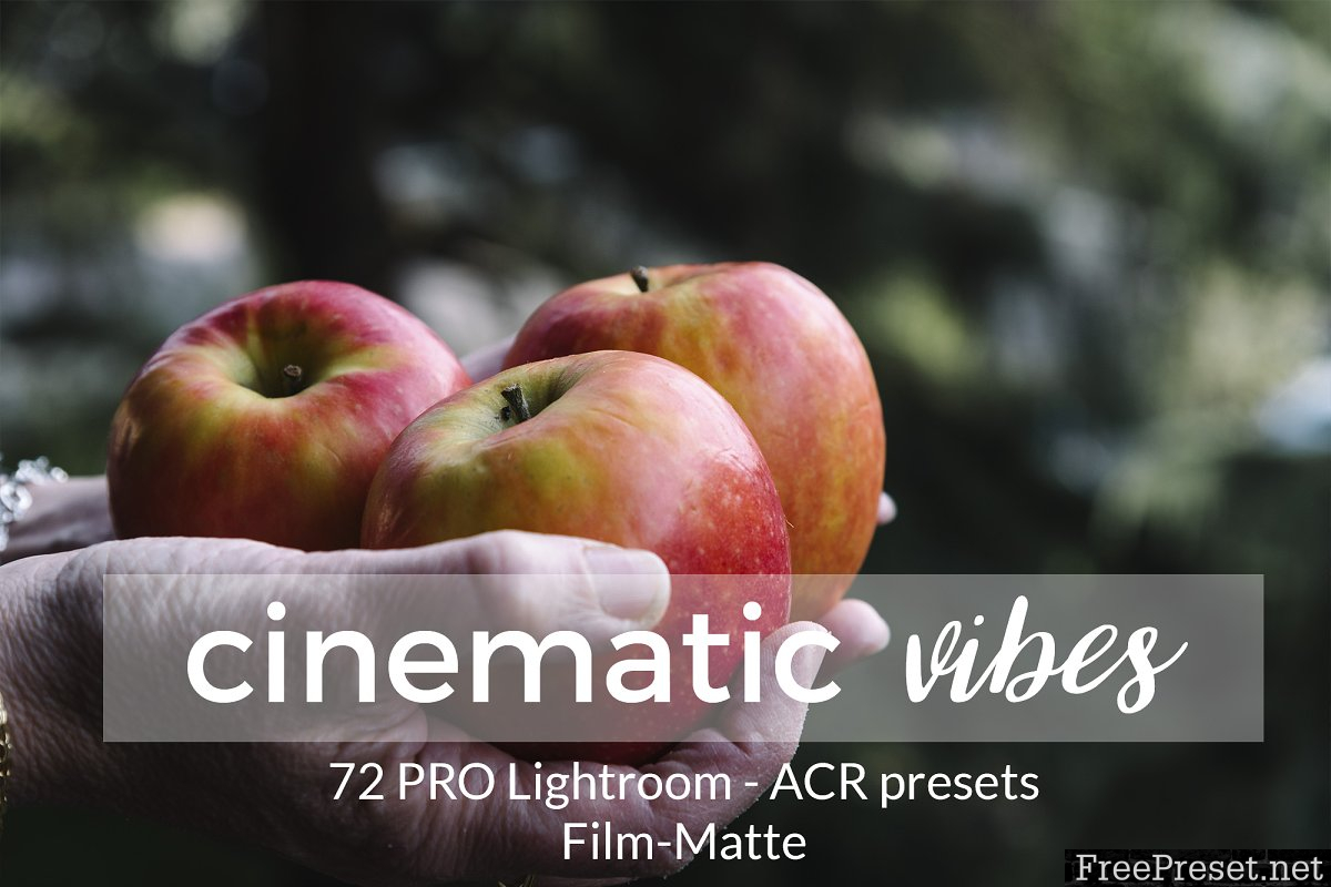 Cinematic Vibes Lightroom Presets 1380759