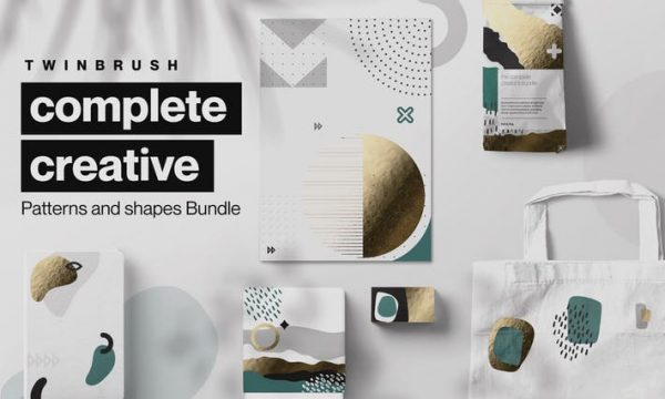 Creative Shape and Patterns Bundle WM2UENS - AI, PDF, EPS, PNG