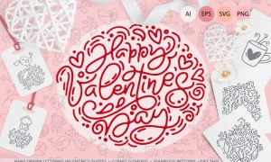Cute Valentines Elements VGLJDZ - AI, EPS, PNG, SVG