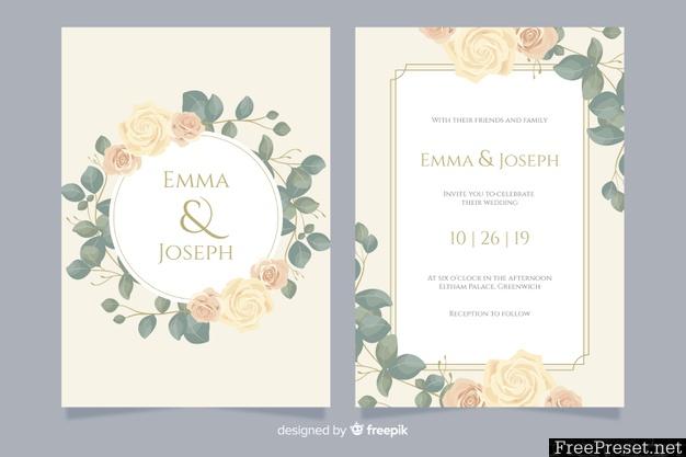 Elegant Wedding Invitation Card Template 4830152