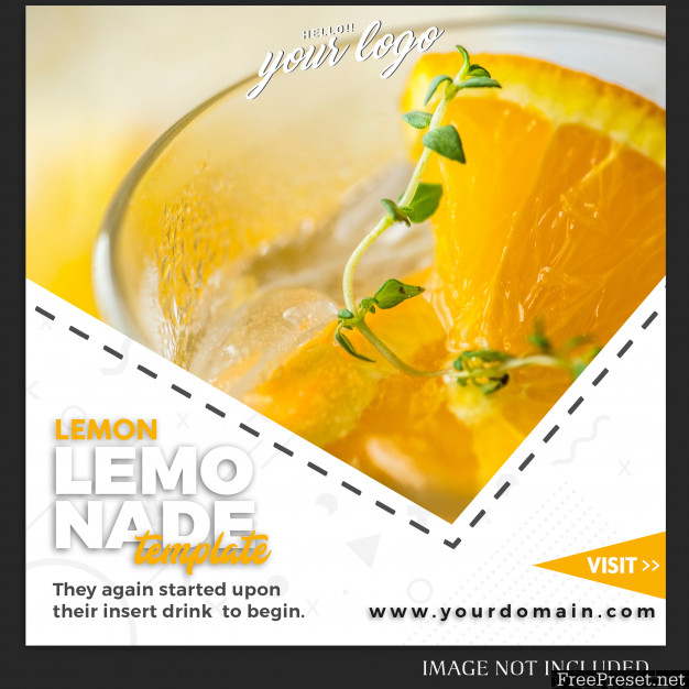 Instagram post template for drink food recipe or lifestyle 5062460