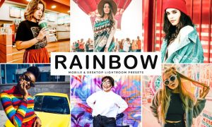 Rainbow Mobile & Desktop Lightroom Presets