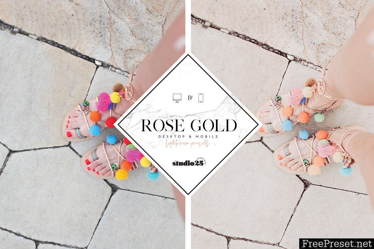 Rose gold lightroom preset 3781572