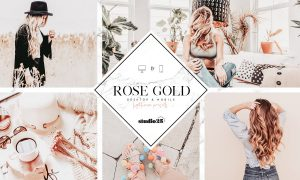 Rose gold lightroom preset 3781572