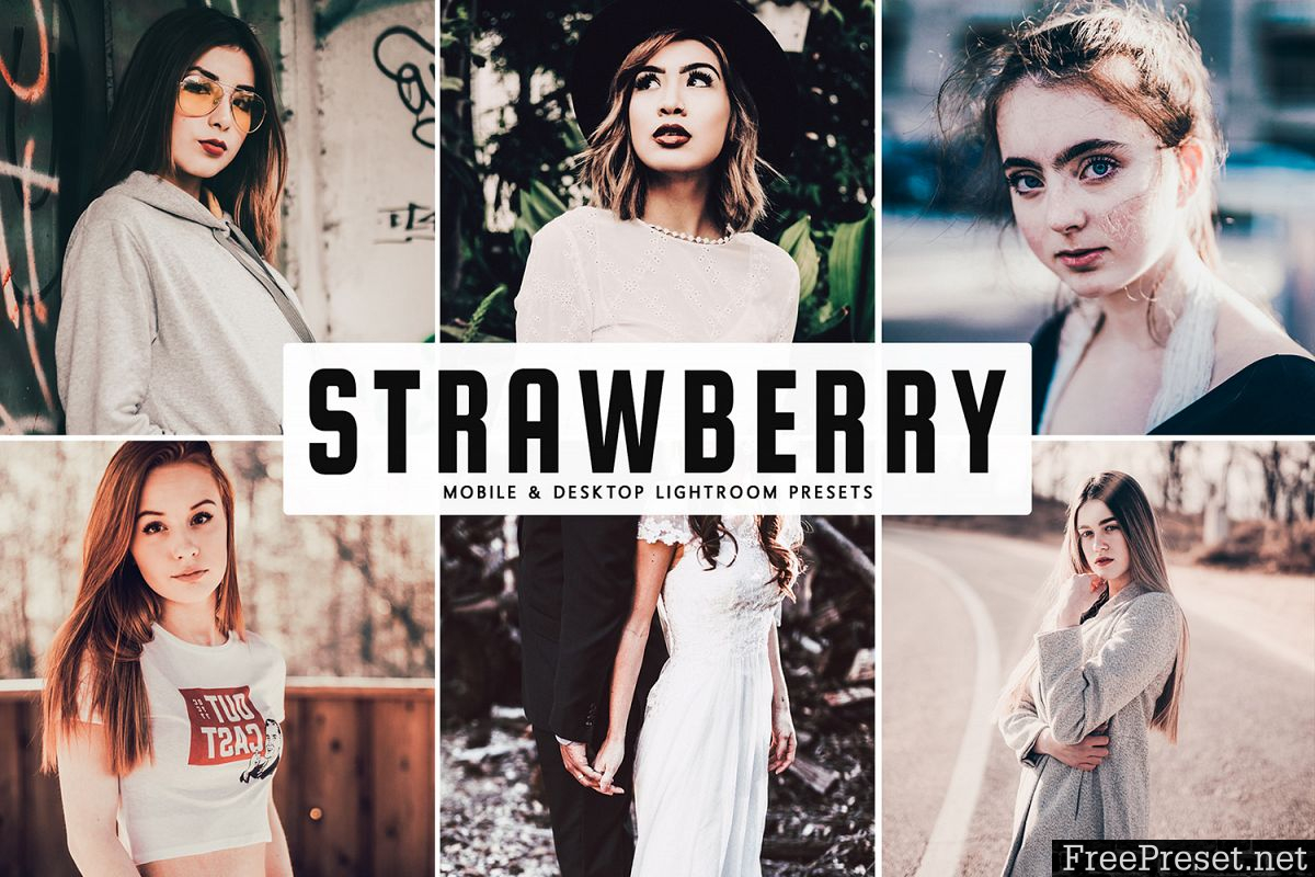 Strawberry Mobile & Desktop Lightroom Presets
