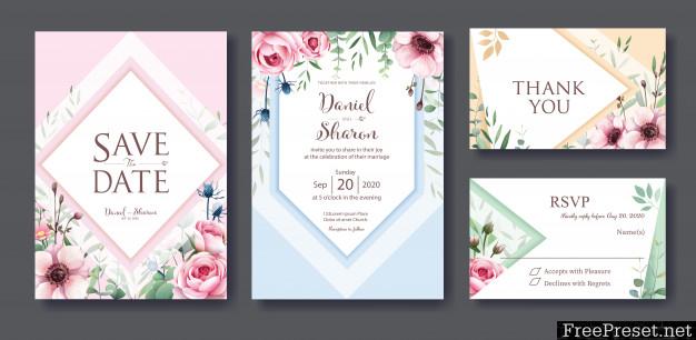 Wedding Invitation Card Template 3784886