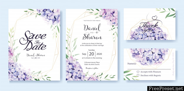 Wedding Invitation Card Template 3784890