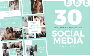 30 Social Media Templates  1603492