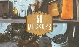 50 Hip Logo Overlay Mock-Ups 42237