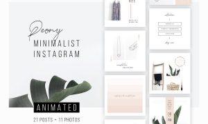 ANIMATED Instagram Posts – Peony 2983690