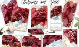 Burgundy & Gold wedding suit 2815489