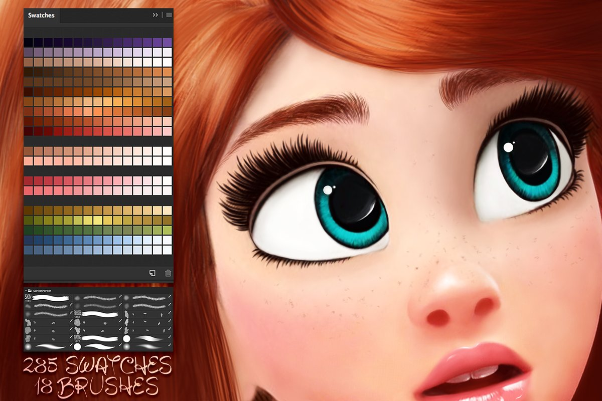 Cartoon Portrait Swatches 1677444