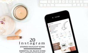 ESSENTIAL OIL Theme Instagram Icons 2509095