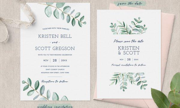 Eucalyptus Wedding Invitation Suite 2792808