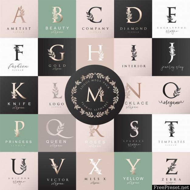 Feminine Floral Letter Logo Creator 3551346