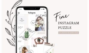 Fine Instagram Puzzle Template 2740549