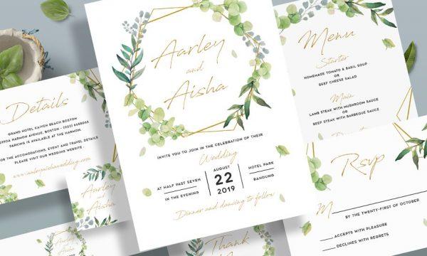 Geometric Wedding Invitation 3560565