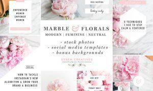 Marble Floral Social Media Branding 1673191