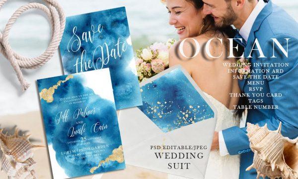 Ocean wedding invitations suit 3557254