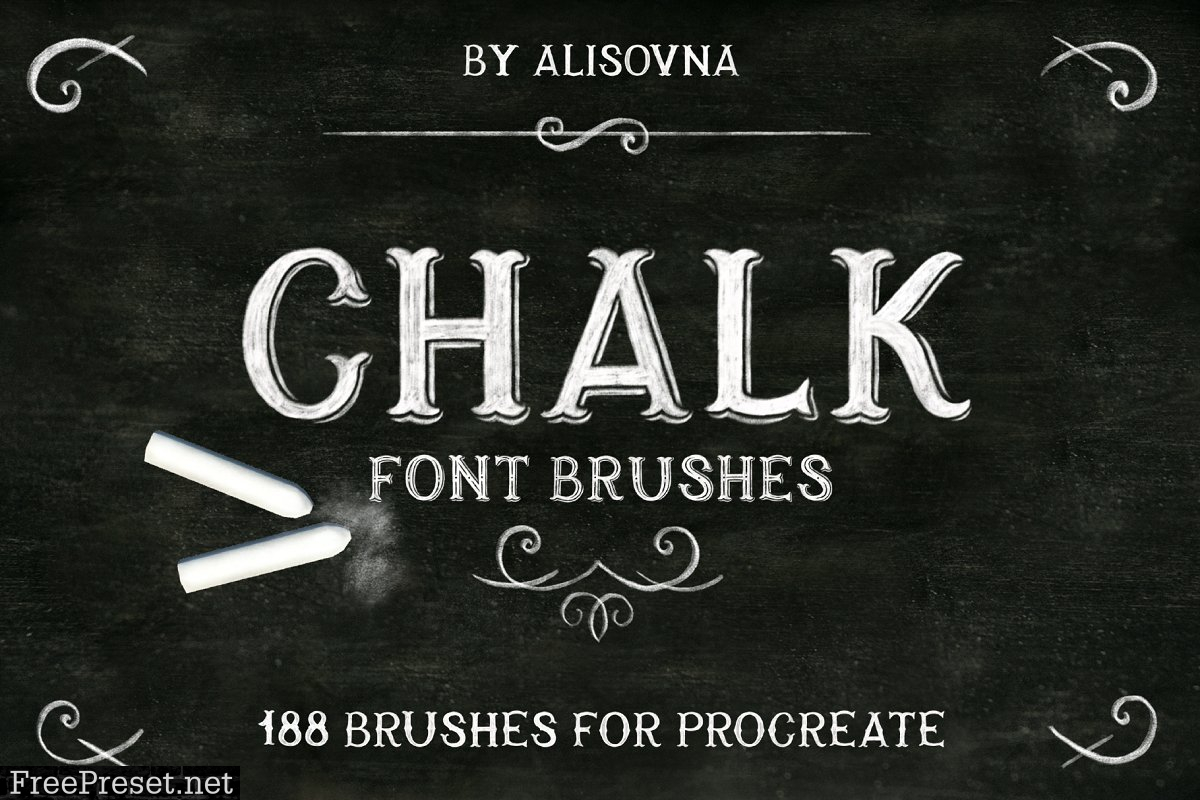 Procreate Chalk Font Brushes 3661176
