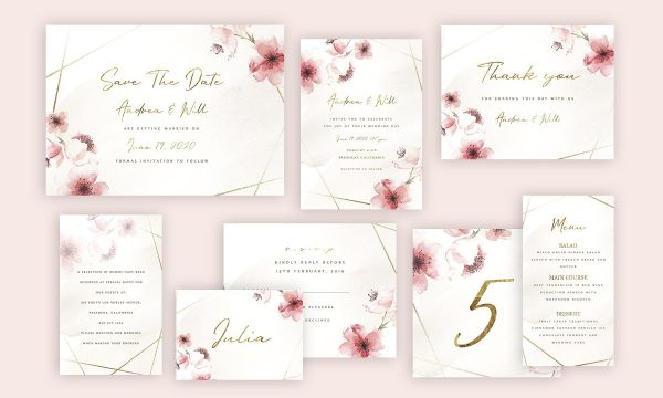 Rose Wedding Invitation Suite 3379057