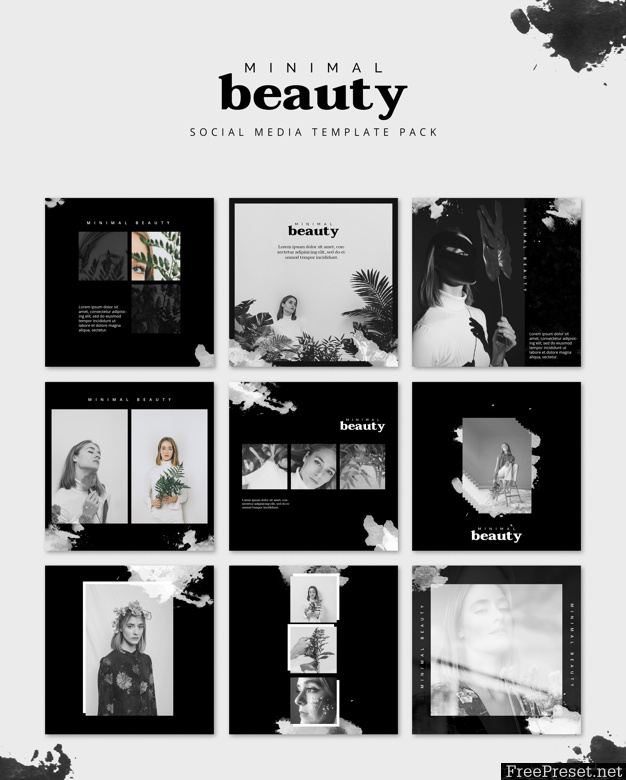 Social media post mockup with beauty concept 4013885