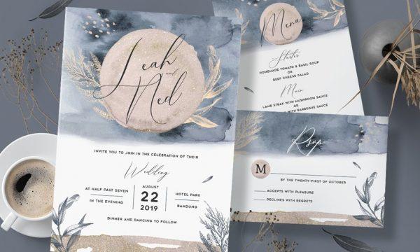 Watercolor Wedding Invitation 3586587