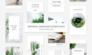 Waterfall Instagram Stories Pack 2227450