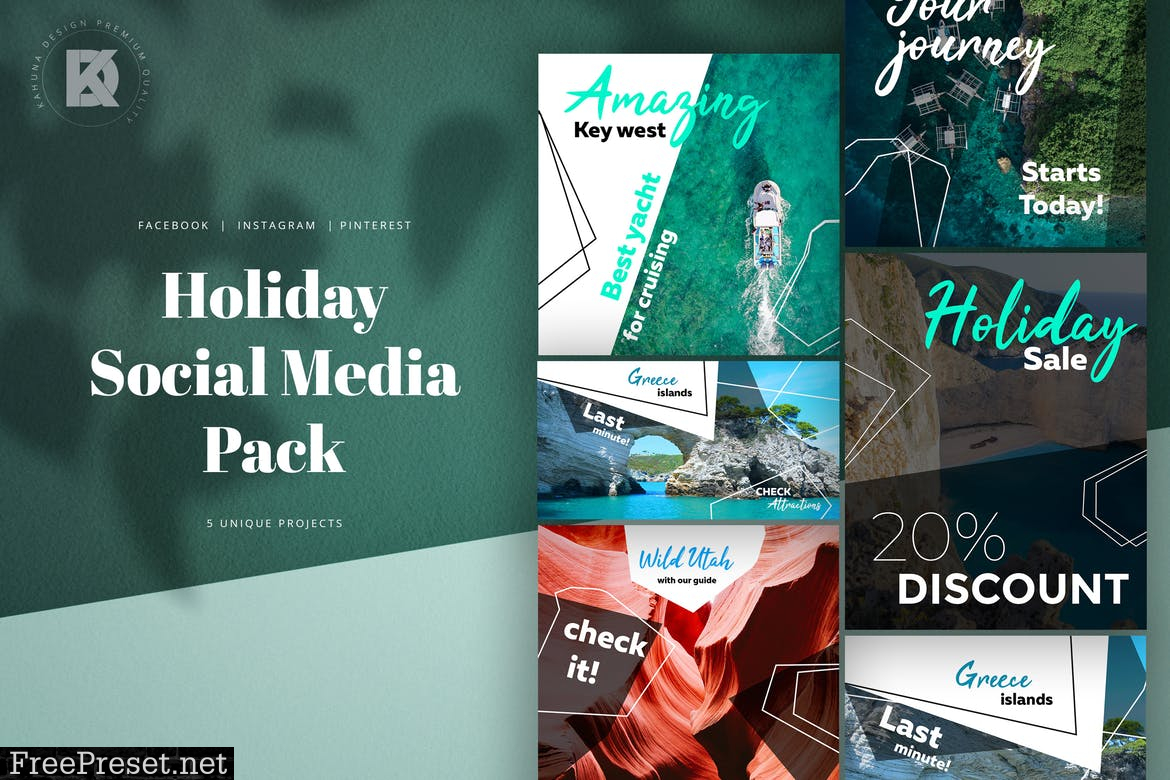 Holiday Social Media Pack NYKPW4X