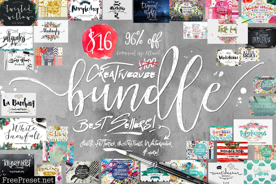 Bundle of Fonts and Graphics 542654