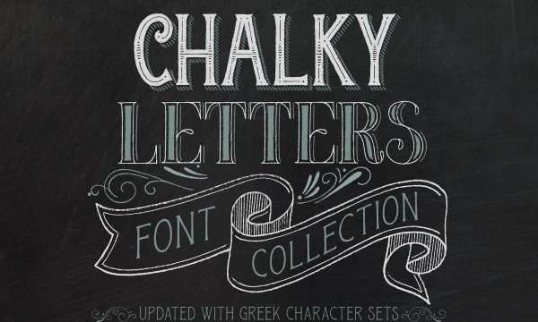 Chalky Letters Font Collection 2595276