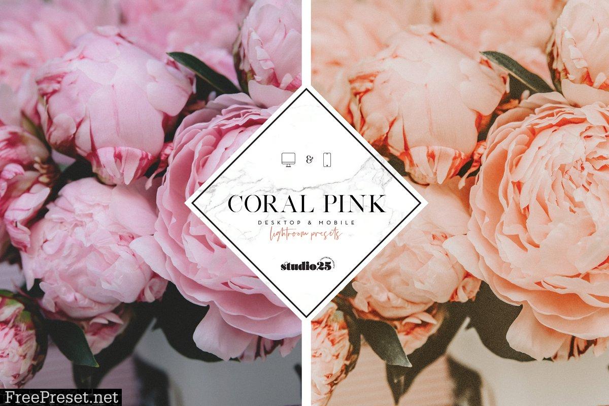 Coral pink lightroom preset 4007624