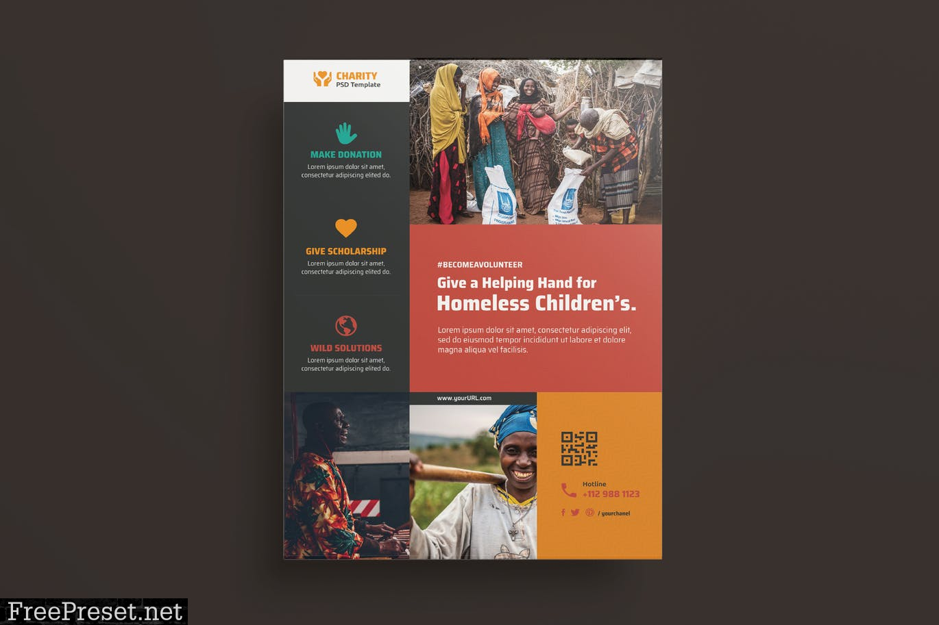 NGO, Charity,Fundraising Flyer CFJESHX Intended For Ngo Brochure Templates