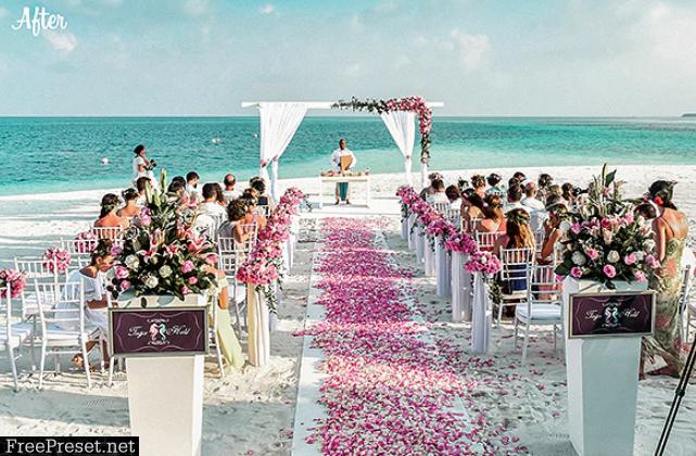 Wedding Collection - Coral Blue Lightroom Preset 24421323