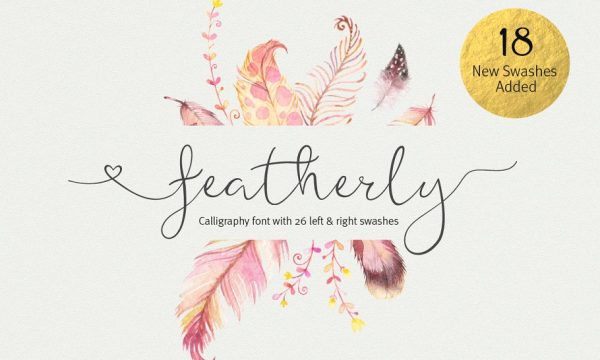 featherly font wedding font 287170