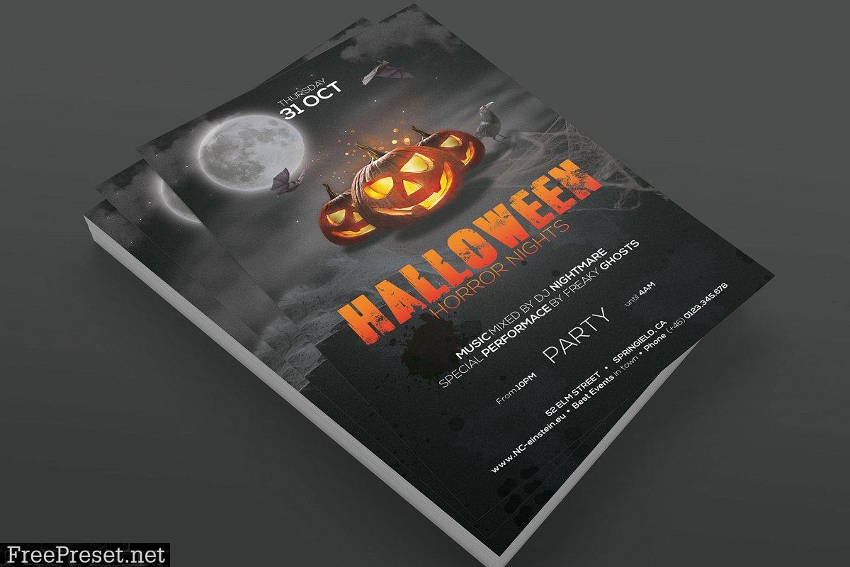 Halloween Party Flyer 4096445